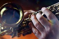 Saxofon und Musiker