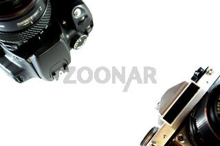 Analoge und Digitale Spiegelreflexkamera