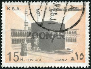 SAUDI ARABIA - 1976: shows Holy Kaaba, Mecca