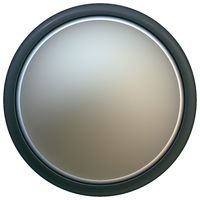 Convex button circle with clipping path