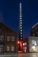 Schornstein mit Fibonacci-Reihe am Kulturzentrum Lindenbrauerei, Unna, Ruhrgebiet