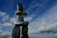 Inukshuk in Vancouver, English Bay