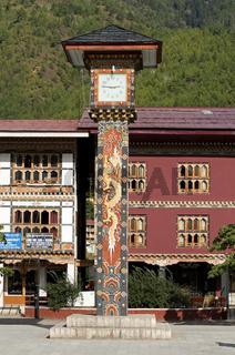 Glockenturm auf dem zentralen Platz in Thimphu