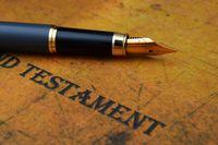 Testament and pen