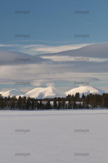 Blick zum Berg Rendalssoelen, Hedmark