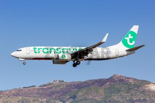 Transavia Boeing 737-800 Flugzeug Flughafen Zakynthos in Griechenland