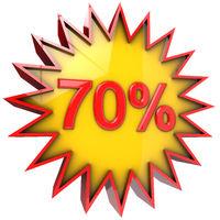 Star off seventy percent