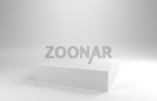White background with a white pedestal