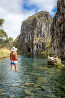 Woman traveller in high country Australia