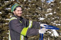 Funny moments during a winter snow removal operation