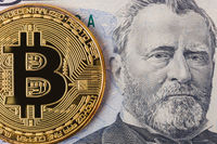 Bitcoin and money - business background