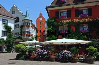 Restaurant in der Altstadt von Meersburg am Bodensee