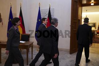 President Joachim Gauck meets Jean-Claude Mignon