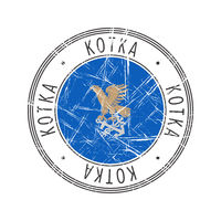 Kotka city postal rubber stamp
