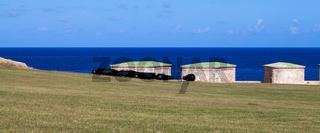 Kuba Havanna Ansicht Festung mit Kanonen 3