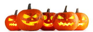 Halloween Pumpkins isolated on white