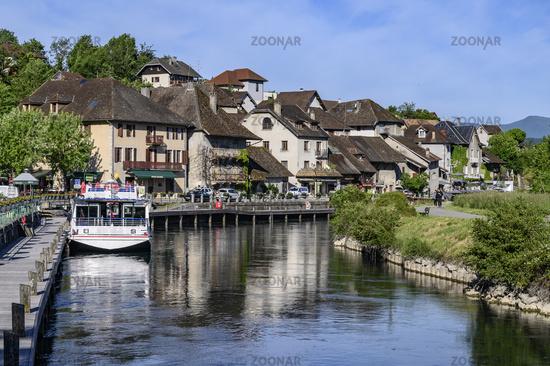 Chanaz und sein Canal de Savière, Savoie, France