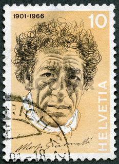 SWITZERLAND - 1972: shows Alberto Giacometti (1901-1966), painter and sculptor