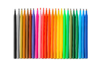 Multicolored markers or felt-tip pens