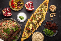 Arab Turkish assorted food from above