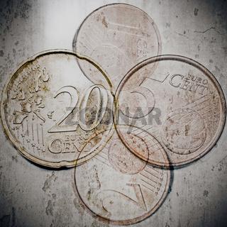 Euro Cent Stücke