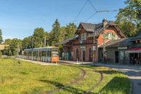 Tram stop of the former Waldbahn in Neu Isenburg, Germany 2.jpg