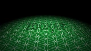 Boden mit Textur - Blume des Lebens - Grün Silber