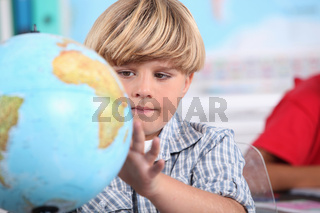 portrait of a pupil with globe