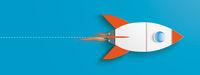 Big Rocket Startup Blue Header