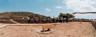 Queen of Sheba palace ruins in Aksum, Axum civilization, Ethiopia.