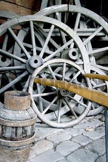 Wagenraeder, Stellmacherwerkstatt im Hessenpark