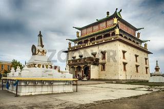 Gandan monastery in Ulan Bator