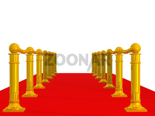 Red path with row column