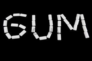 Write gum with gum