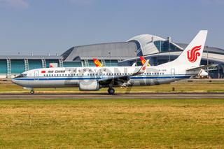 Air China Boeing 737-800 Flugzeug Flughafen Guangzhou in China
