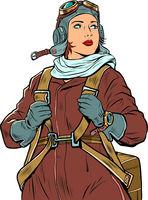 female retro pilot. professional military pilot