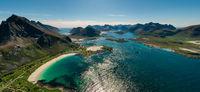 Panorama Beach Lofoten archipelago islands beach