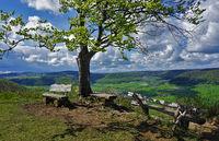 Filsenberg, Schwäbische Alb, Blick über die Schwäbische Alb