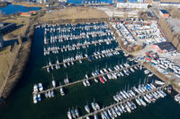 Aerial View of Lynetten Sailboat Harbor in Copenhagen