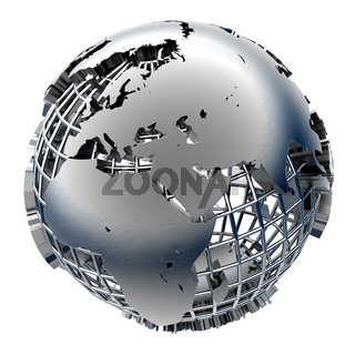 Stylized metal model of the Earth