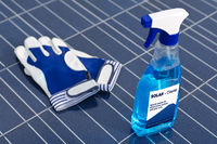 Solarzellen und Reinigungsmittel - englisch