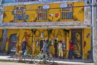 Hauswand in Camagüey, Kuba