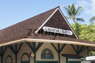 bahnhof von lahaina auf maui,hawaii