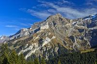 Gipfel Scex Rouge im Bergmassiv Les Diablerets bei der Ortschaft Les Diablerets