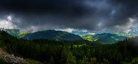 Panorama from Pilatus, Switzerland with view of lake Luzern-