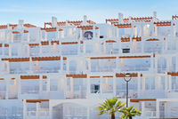 Exterior view of apartments in Spain.