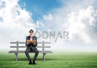 young student with a book