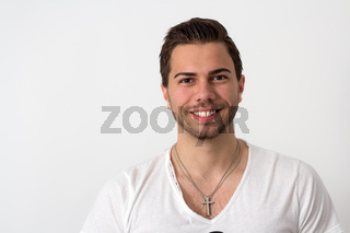 Portrait of a Young Attractive Likeable Man