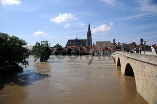 Regensburg, Donau, Hochwasser