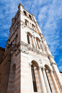 campanile - tower of Ferrara Cathedral, Italy